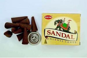 Conuri parfumate Santal (10buc.)