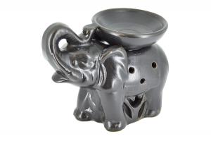 Suport ceramic pentru aromaterapie elefant negru