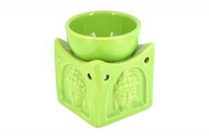 Suport ceramic pentru aromaterapie templu Buddha verde