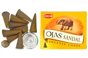 Conuri parfumate Santal Ojas(10buc.)