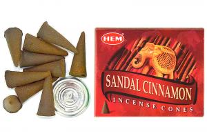 Conuri parfumate Scortisoara-Santal(10buc.)