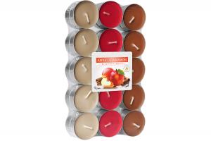 Lumanari parfumate pastila 4h (30buc.) Scortisoara-Mar (Apple-Cinnamon)