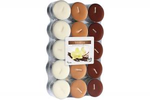Lumanari parfumate pastila 4h (30buc.) Vanilie (Vanilla)