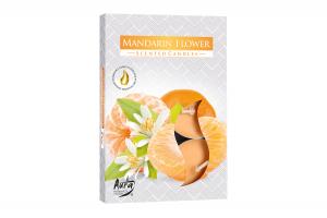 Lumanari parfumate pastila 4h (6buc.) Floare de Mandarin (Mandarin Flower)