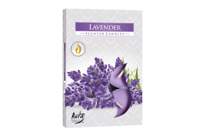 Lumanari parfumate pastila 4h (6buc.) Lavanda (Lavender)