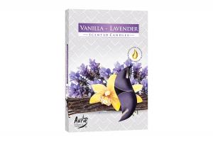 Lumanari parfumate pastila 4h (6buc.) Lavanda-Vanilie (Vanilla-Lavender)