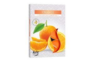 Lumanari parfumate pastila 4h (6buc.) Portocala (Orange)