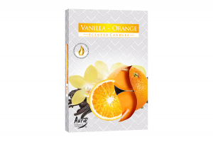 Lumanari parfumate pastila 4h (6buc.) Portocala-Vanilie (Vanilla-Orange)