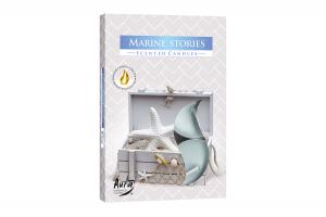 Lumanari parfumate pastila 4h (6buc.) Povesti Marine (Marine Stories)