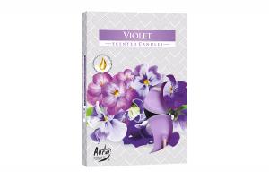 Lumanari parfumate pastila 4h (6buc.) Violeta (Violet)