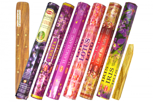 Set betisoare parfumate Flori Aromate si lemn Palo Santo