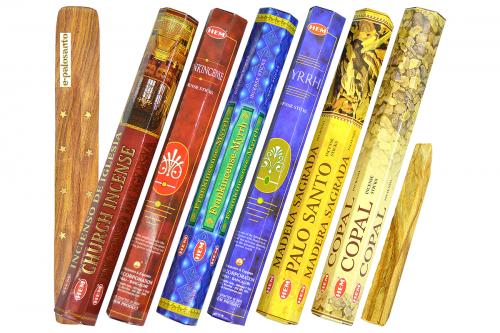 Set betisoare parfumate Rasini Sfinte si lemn Palo Santo